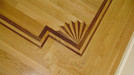 Walnut & White Oak Fan with border.